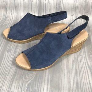 Mika Paoli 9 leather wedge sandal